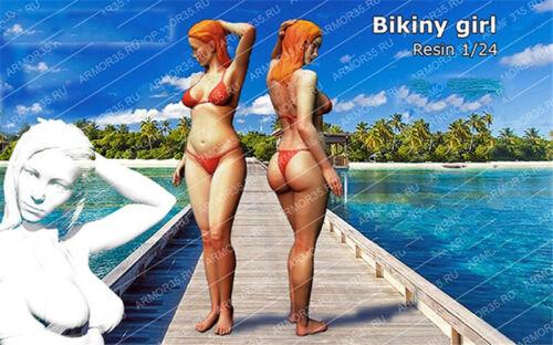 1//24 Resin Kits Bikini Girl Model Figure GK Unpainted