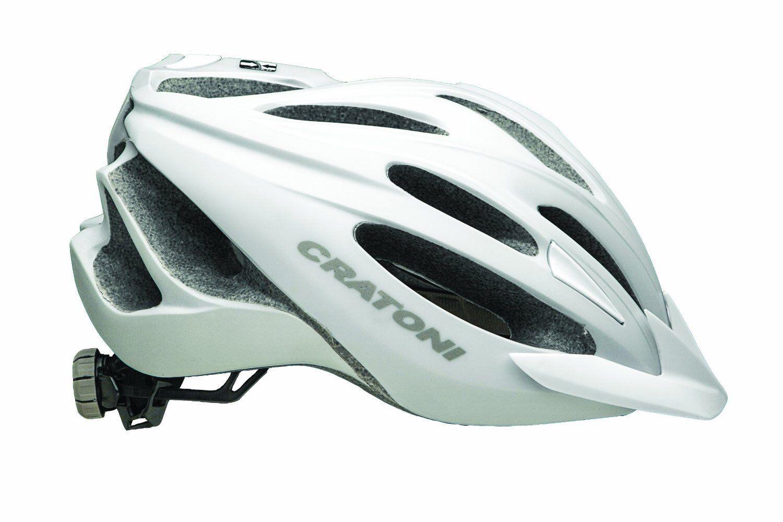 Cratoni C-Blaze Bicycle Helmet LED Light Visor Predection Triathalon Head Gear