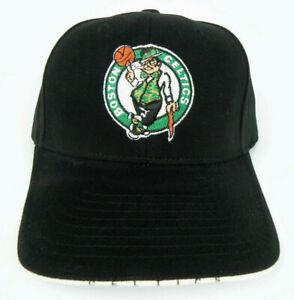 BOSTON-CELTICS-NBA-VINTAGE-ALL-BLACK-STRAPBACK-RETRO-CAP-HAT-NEW-TWINS-TEI