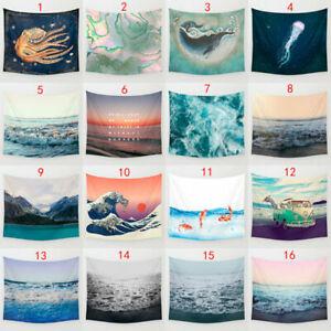 Waves-Cartoon-Sea-Art-Hanging-Wall-Hippie-Tapestry-Decor-Home-Yoga-Beach-Towel