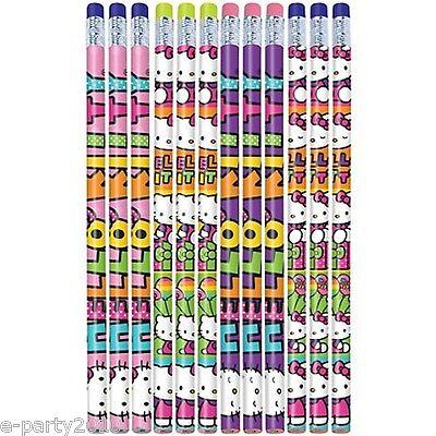 HELLO KITTY Rainbow PENCILS (12) ~ Birthday Party Supplies Stationery Favors