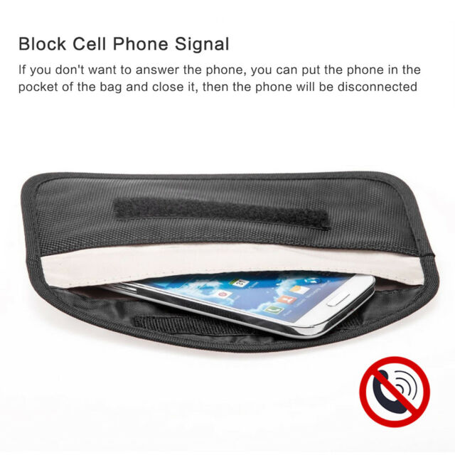 Phone Card Car Key Keyless Entry Fob Signal Guard Blocker Faraday Large  Size Bag