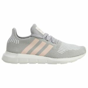 64bb10a86 Adidas Swift Run Womens CG4140 Grey Icey Pink White Knit Running ...