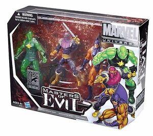 Marvel Universe 3-pack_masters Of Evil__baron Zemo__radioactive Man__tiger Shark