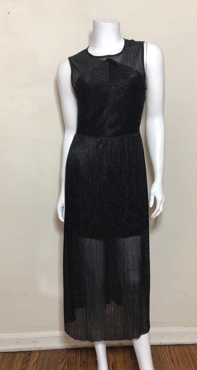 SANDRO sans hommeches noir métallisé taille de robe 1 S 36