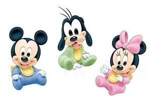 Disney Baby Mickey Minnie T shirt Iron on Transfer 8x10- 5x6 -3x3 light fabric
