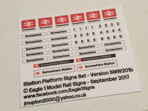 N Scale British Rail Station Signs Set Your Choice of Name