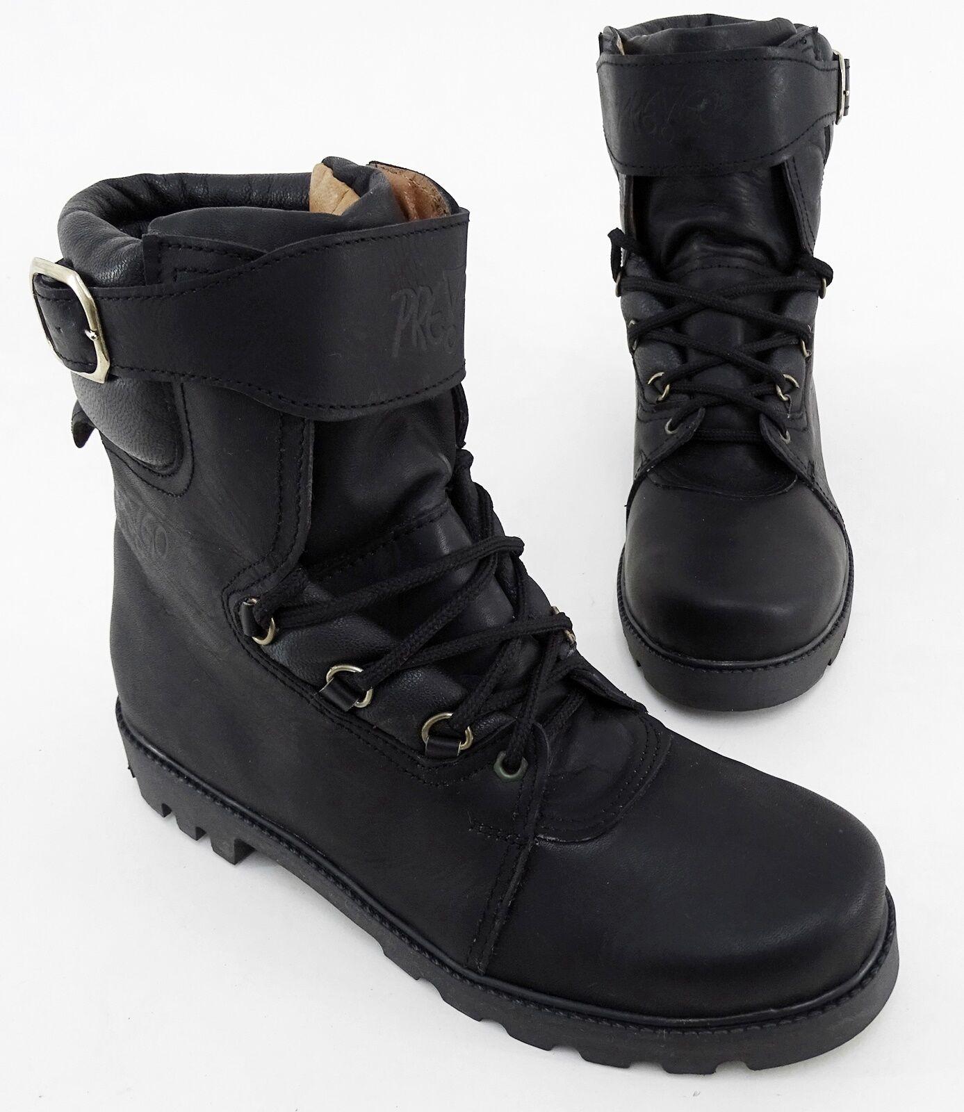 Boots pre! GO vera Stivaletti Scarpe con tacco vera GO pelle NERO MIS. 42 3c1bee