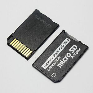 sandisk memory stick duo adapter how to use