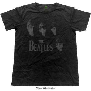 The-Beatles-Faces-Vintage-Finish-Official-Merchandise-T-Shirt-M-L-XL-Neu