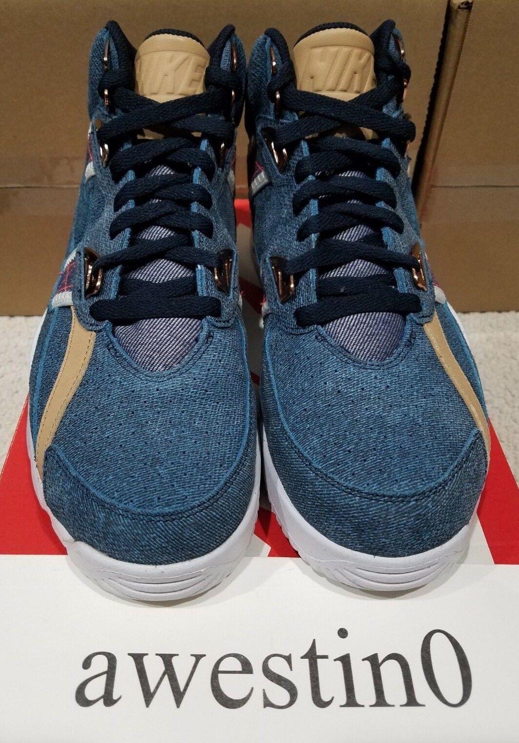 aa0eebe67616 Nike Air Trainer SC High PRM Denim Men s Size 10 Hi Shoes SNEAKERS ...
