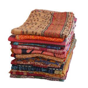 Wholesale 20 Lot Vintage Kantha Quilt  Throw Blanket Bedding India Bedspread