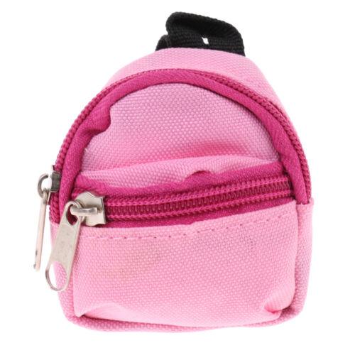 Stilvolle Doppelriemen Schultasche rosa Reißverschlusstasche für 1//6 BJD