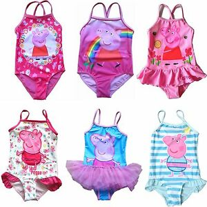 25fe86a224 New Girls Peppa Pig Swimsuit Swimwear Bikini Tankini Rashie Bathers ...