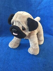 Pug-Toy-Soft-Plush-Cuddly-Dog-With-Pink-Jumper-Cute-Puppy-Aurora-Good-Condition