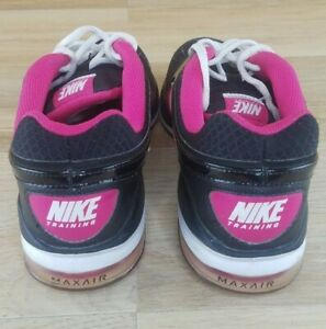 NIKE-Max-Air-Women-508637-061-Athletic-Black-Pink-Gym-Shoes-Size-7-5