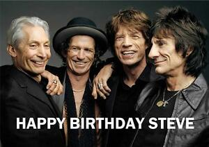 personalised rolling stones birthday card  ebay, Birthday card