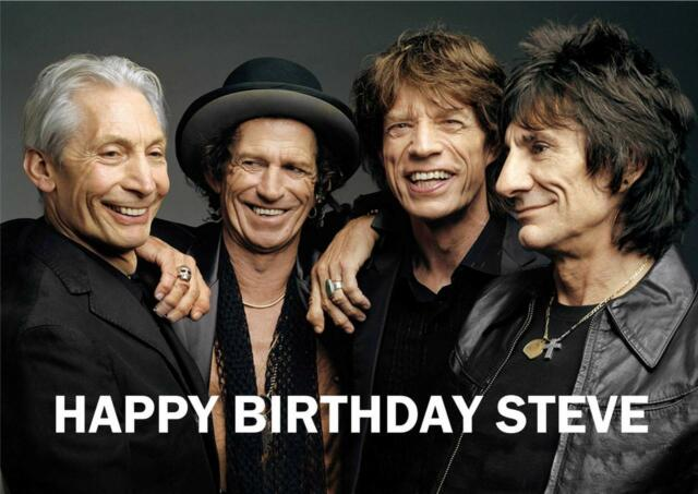 Personalised Rolling Stones Birthday Card Ebay