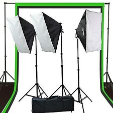 Fancierstudio 2400 watt lighting kit softbox light kit video lighting kit wit...