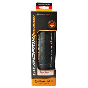 Continental Gran Premio 4 Temporada Plegable Neumático 700x25c Negro Carrera