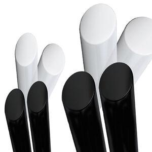 40mm ACETAL Black ROD, Natural White Engineering Plastics Round Bar Copolymer