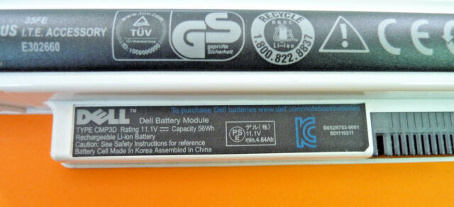 Original Dell Inspiron Mini 1012 56Wh 11.1V WHITE Laptop Battery 2T6K2 CMP3D