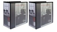 2 Office Impressions Black D Ring 5 Inch View Binder