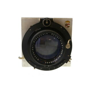 Vintage-Schneider-300mm-f-4-5-Xenar-in-Compound-Shutter-with-Linhof-Board-UG