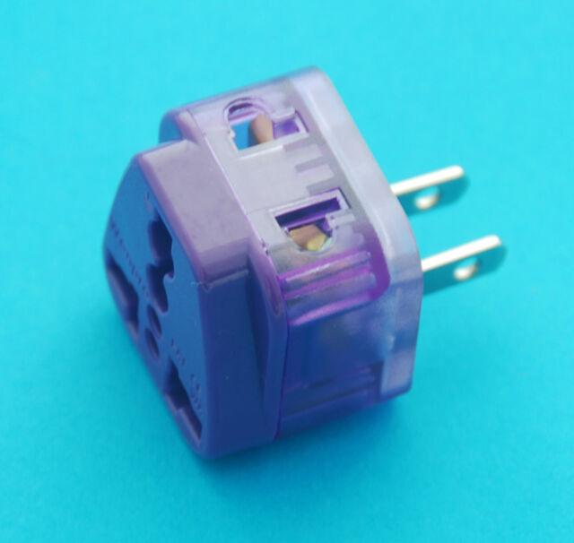 Universal UK EU AUS to USA Japan Taiwan Travel Adaptor AC Power Plug Dual Ports
