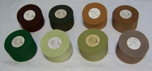 "10 yards Pick Color 2/"" Vintage French Grosgrain Ribbon Petersham Cotton Rayon"