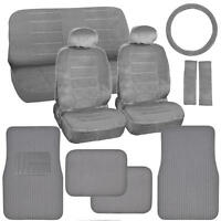 Car Seat Covers & Ribbed Floor Mats – Classic Gray Velourette W/ Corduroy Mats on sale