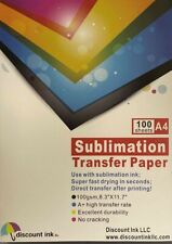 100 Sheets A4 Dye Sublimation Heat Transfer Paper For Polyester Cotton T Shirt