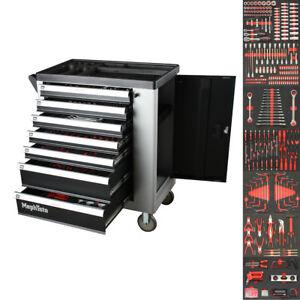 Premium Pro Werkzeugwagen 7 Schubladen 7 mit Werkzeug gefüllt CRV Werkstattwagen
