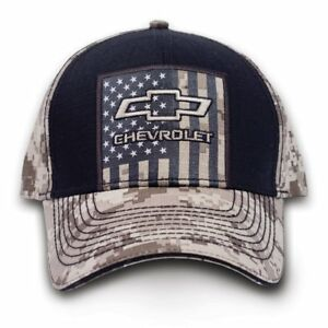 df63b2499 Details about Chevrolet Chevy Truck Digital Camouflage Camo American Flag  USA Hat Cap 9112