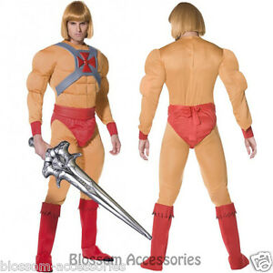 CL189-Mens-He-Man-Prince-Adam-Master-of-the-Universe-Super-Hero-Costume-Sword