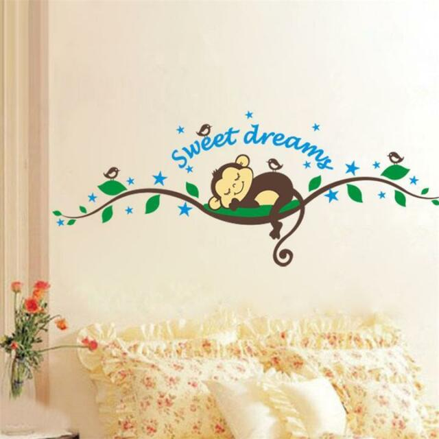Hot Sleep Monkey Removable Vinyl Wall Decal Stickers Art Home Decor For Kid Room