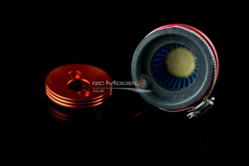 Mad Max Highflow Air Filter /& Velocity Stack Red For KM /& HPI Baja RC Hop Up