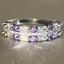 thumbnail 15 - 925 Silver Women Gemstone Birthstone Diamond Wedding Engagement Ring Wholesale