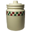 Hartstone-Farmhouse-Cookie-Jar-Canister-Red-Green-Check-Checkerboard-Checkmates thumbnail 1