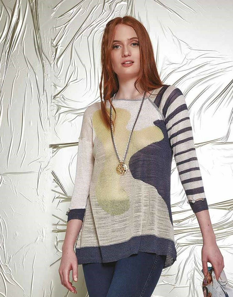 ELISA CAVALETTI Strickshirt Knit Shirt Abisso Gr. XS,S  Sommer 2017