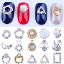 10PCS Chic Shape 3D Nail Art Decor Rabbit Flower Rhinestones Glitter Pearl Alloy
