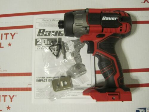 """Bauer 1781C-B1 20V Hypermax Lithium 1//4/"""" Hex Compact Impact Driver Tool Only NEW"""
