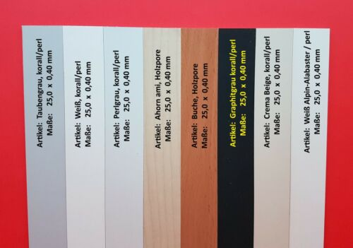 NEU Kantenumleimer Buche Bügelkante Umleimer mit SK Breite 25 mm Holzpore