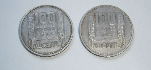 2 PIECES 100 FRANCS REPUBLIQUE FRANCAISE - ALGERIE