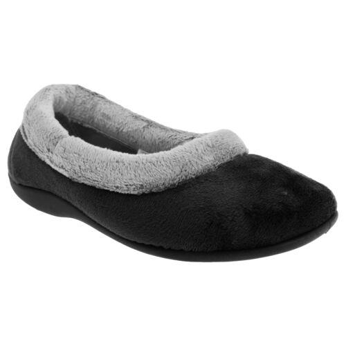 Sleepers Womens//Ladies Julia Memory Foam Collar Slippers//Indoor Shoes DF540
