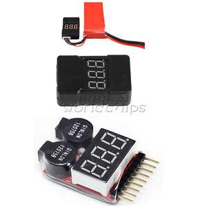 1-8S BX100 2 In1 Lipo Li-ion Battery Low Voltage Tester Buzzer Alarm Dual Speak
