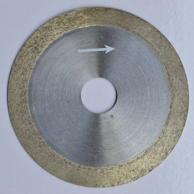 """4"""" 100mm x 20mm x 1mm Diamond continuous rim saw blade Glass Wet Cutting Blade"""