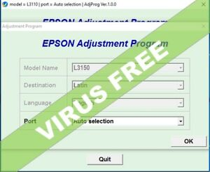 Details about RESET EPSON L3150 lat- Reset ink pads counter 100%🔑Unlimited  1Pc key🔥emailed⭐