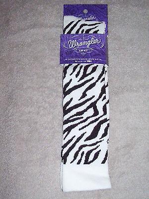 1 Pair Fits 9-11 Medium Pink Wrangler Zebra Boot Socks #9644