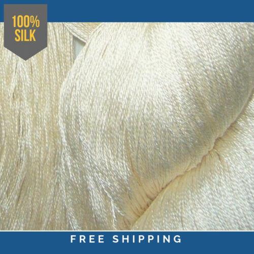 100 Grams Shiny 3000 Meters 2//60 Spun Silk Yarn 1 Skein Knit // Weave